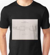 0747 Theben Thebes Grundriss des Tempels von Luqsor Luxor T-Shirt