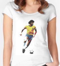 Socrates Brazil Legend Women's Fitted Scoop T-Shirt