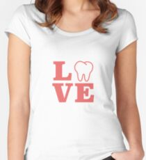 Dental Themed Love With Molar Women's Fitted Scoop T-Shirt