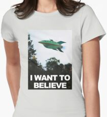 I Want To Believe - Futurama Women's Fitted T-Shirt