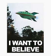I Want To Believe - Futurama Photographic Print