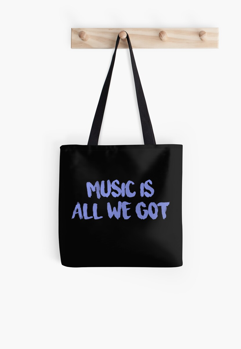 All We Got Chance The Rapper Lyric Tote Bags By Jamie Malone
