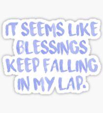 """Blessings"" Chance the Rapper lyrics Sticker"