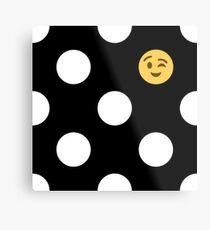 Wo ist mein Emoji? Metallbild
