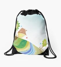 green planet Drawstring Bag