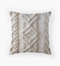 Fisherman cable knit Throw Pillow