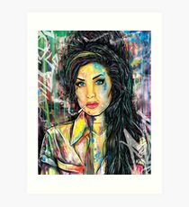 Ms. Winehouse Art Art Print