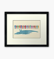 Normandy and the squad Framed Print