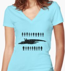 Normandy and the squad 2 Women's Fitted V-Neck T-Shirt