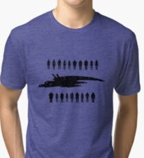 Normandy and the squad 2 Tri-blend T-Shirt