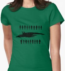 Normandy and the squad 2 Womens Fitted T-Shirt