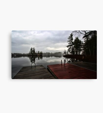 Spring - Putting The Docks In (Kezar Lake) Canvas Print