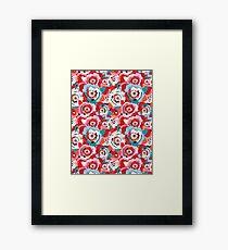 Lovely rose pattern graphics Framed Print