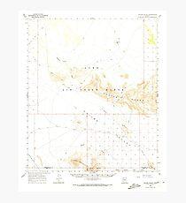 USGS TOPO Map Arizona AZ Childs Valley 314466 1965 62500 Photographic Print