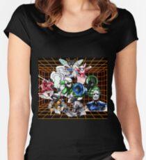 Kid Chameleon Grid Women's Fitted Scoop T-Shirt