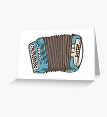 Blue Russian Bayan Greeting Card