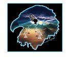 Eagle, teepee & sunset by Nativeexpress
