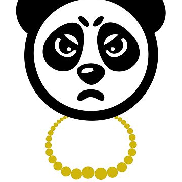 Panda with Gold Chain Tshirt by Scottng1612
