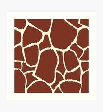 Giraffe seamless pattern texture. Giraffe background animal skin Art Print