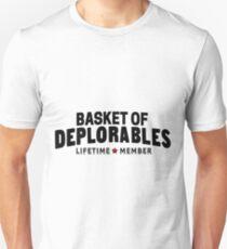 Basket of Deplorable lifetime star member black Unisex T-Shirt