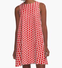 Lonely Red Circle  A-Line Dress