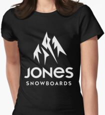 jones snowboards apparel Womens Fitted T-Shirt