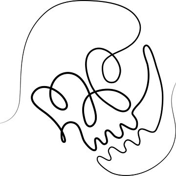 One Line Skull by Nasalinhaler