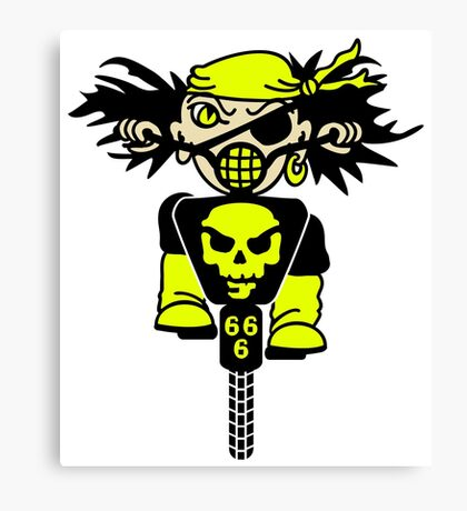 BMX Biker Pirate VRS2 Canvas Print