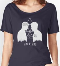 Kirk/Spock - Head/Heart  //on dark colours// Women's Relaxed Fit T-Shirt