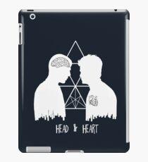 Kirk/Spock - Head/Heart  //on dark colours// iPad Case/Skin