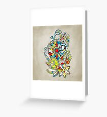 Abstract vector floral and ornamental item background Greeting Card