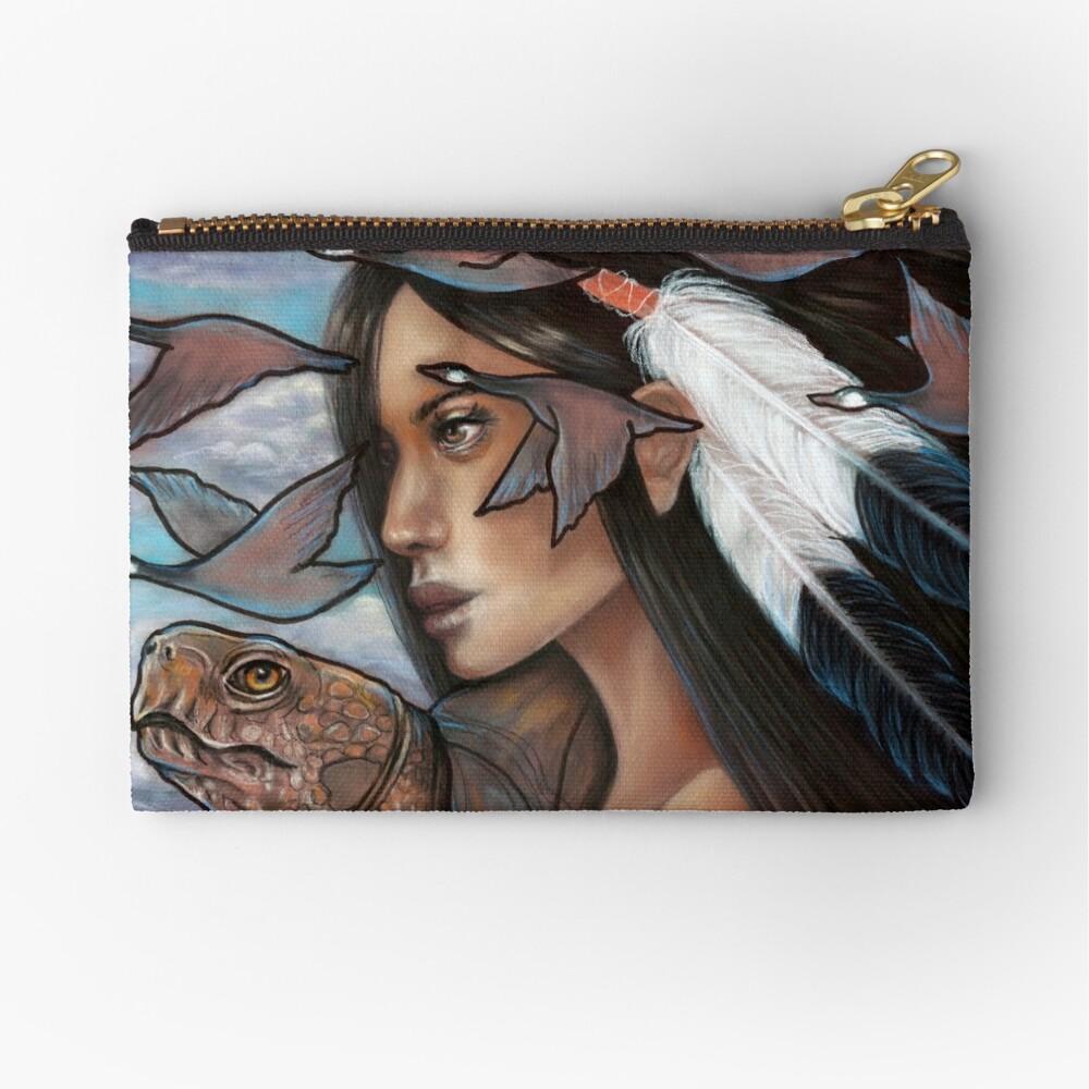 Sky Woman Iroquois Mother Goddess Zipper Pouch