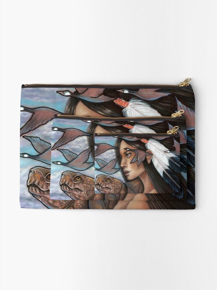 Alternate view of Sky Woman Iroquois Mother Goddess Zipper Pouch