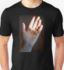 Helping Hand Holding a Rainbow T-Shirt