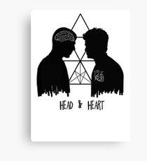 Kirk/Spock - Head/Heart //on light colours// Canvas Print