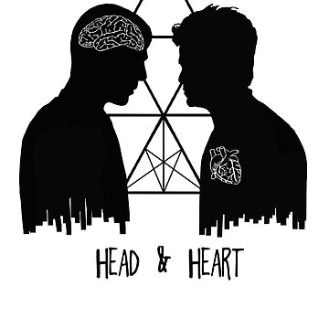 Kirk/Spock - Head/Heart //on light colours// by SallySparrowFTW