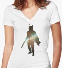 Boba Fett Galaxy Women's Fitted V-Neck T-Shirt