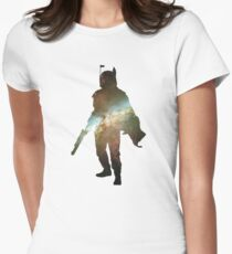 Boba Fett Galaxy Womens Fitted T-Shirt