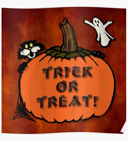 Halloween poster, tote & sticker Poster
