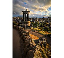 Edinburgh city centre sunset Photographic Print