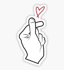 Pegatina Corazón de dedo