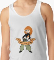 Kim Possible - Fight Like a Girl Tank Top