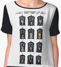 8-bit Doctor Who Chiffon Top