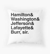 Hamilton - Hamilton & Washington & Jefferson & Lafayette & Burr, Sir. Dekokissen