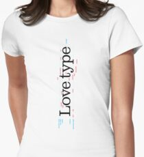 Love Type (a) Women's Fitted T-Shirt