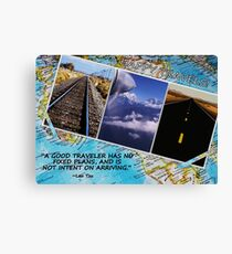 HAPPY TRAVELS Canvas Print