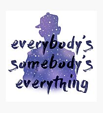 """Everybody's Something"" Chance the Rapper Lyric Photographic Print"