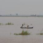 Fog on the Irrawaddy 2 by Werner Padarin