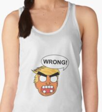 angry zombie trump is wrong again Women's Tank Top