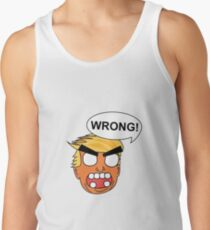 angry zombie trump is wrong again Tank Top